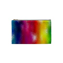 Color Glass Rainbow Green Yellow Gold Pink Purple Red Blue Cosmetic Bag (small)  by Mariart