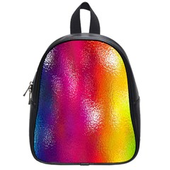 Color Glass Rainbow Green Yellow Gold Pink Purple Red Blue School Bags (small)  by Mariart