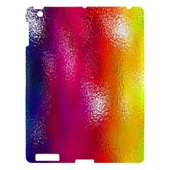 Color Glass Rainbow Green Yellow Gold Pink Purple Red Blue Apple Ipad 3/4 Hardshell Case by Mariart