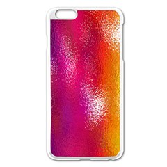 Color Glass Rainbow Green Yellow Gold Pink Purple Red Blue Apple Iphone 6 Plus/6s Plus Enamel White Case by Mariart