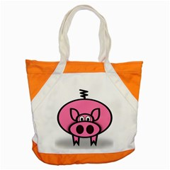 Pork Pig Pink Animals Accent Tote Bag by Mariart
