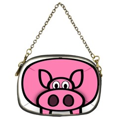 Pork Pig Pink Animals Chain Purses (two Sides)  by Mariart