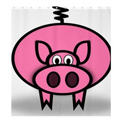 Pork Pig Pink Animals Shower Curtain 66  X 72  (large)  by Mariart