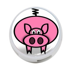 Pork Pig Pink Animals 4 Port Usb Hub (one Side) by Mariart
