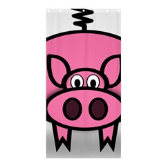 Pork Pig Pink Animals Shower Curtain 36  X 72  (stall)  by Mariart
