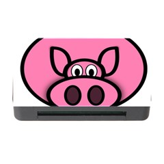 Pork Pig Pink Animals Memory Card Reader With Cf by Mariart