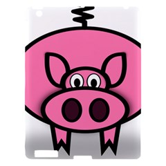 Pork Pig Pink Animals Apple Ipad 3/4 Hardshell Case by Mariart