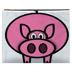 Pork Pig Pink Animals Cosmetic Bag (xxxl)  by Mariart