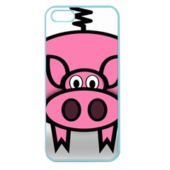 Pork Pig Pink Animals Apple Seamless Iphone 5 Case (color) by Mariart