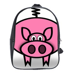 Pork Pig Pink Animals School Bags (xl)  by Mariart