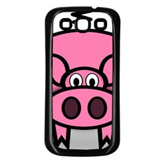 Pork Pig Pink Animals Samsung Galaxy S3 Back Case (black) by Mariart