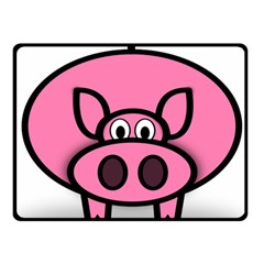 Pork Pig Pink Animals Double Sided Fleece Blanket (small)  by Mariart