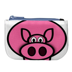 Pork Pig Pink Animals Large Coin Purse