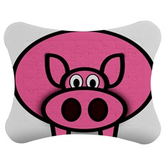 Pork Pig Pink Animals Jigsaw Puzzle Photo Stand (bow) by Mariart