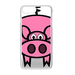 Pork Pig Pink Animals Apple Iphone 7 Plus White Seamless Case by Mariart