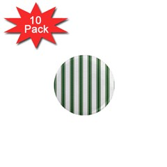 Plaid Line Green Line Vertical 1  Mini Magnet (10 Pack)  by Mariart