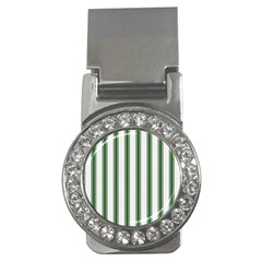 Plaid Line Green Line Vertical Money Clips (cz)  by Mariart