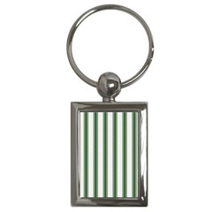 Plaid Line Green Line Vertical Key Chains (rectangle)  by Mariart