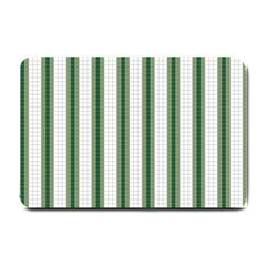 Plaid Line Green Line Vertical Small Doormat  by Mariart