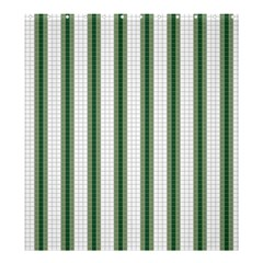 Plaid Line Green Line Vertical Shower Curtain 66  X 72  (large)  by Mariart