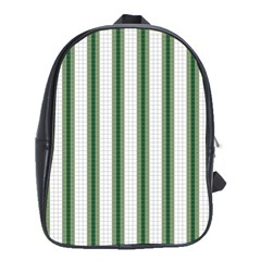 Plaid Line Green Line Vertical School Bags(large)