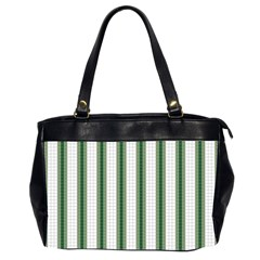 Plaid Line Green Line Vertical Office Handbags (2 Sides)  by Mariart