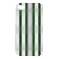Plaid Line Green Line Vertical Apple Iphone 4/4s Hardshell Case by Mariart