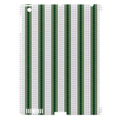 Plaid Line Green Line Vertical Apple Ipad 3/4 Hardshell Case (compatible With Smart Cover) by Mariart