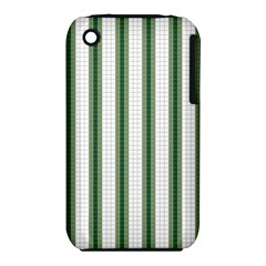 Plaid Line Green Line Vertical Iphone 3s/3gs by Mariart