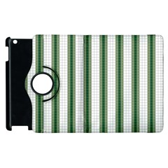 Plaid Line Green Line Vertical Apple Ipad 3/4 Flip 360 Case by Mariart