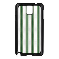 Plaid Line Green Line Vertical Samsung Galaxy Note 3 N9005 Case (black) by Mariart