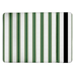 Plaid Line Green Line Vertical Samsung Galaxy Tab Pro 12 2  Flip Case by Mariart