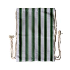 Plaid Line Green Line Vertical Drawstring Bag (small) by Mariart