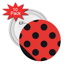 Red Black Hole White Line Wave Chevron Polka Circle 2 25  Buttons (10 Pack)  by Mariart