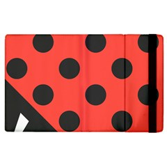 Red Black Hole White Line Wave Chevron Polka Circle Apple Ipad 3/4 Flip Case by Mariart