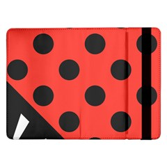 Red Black Hole White Line Wave Chevron Polka Circle Samsung Galaxy Tab Pro 12 2  Flip Case by Mariart