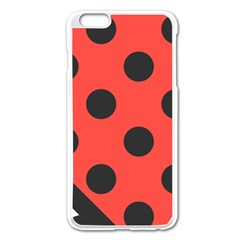 Red Black Hole White Line Wave Chevron Polka Circle Apple Iphone 6 Plus/6s Plus Enamel White Case