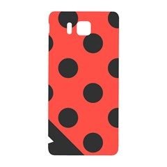 Red Black Hole White Line Wave Chevron Polka Circle Samsung Galaxy Alpha Hardshell Back Case by Mariart