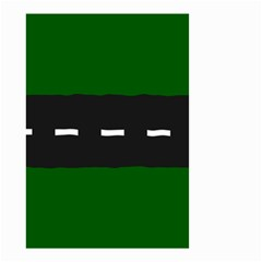 Road Street Green Black White Line Small Garden Flag (two Sides) by Mariart