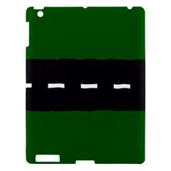 Road Street Green Black White Line Apple Ipad 3/4 Hardshell Case by Mariart