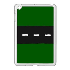 Road Street Green Black White Line Apple Ipad Mini Case (white) by Mariart