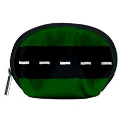 Road Street Green Black White Line Accessory Pouches (medium)  by Mariart