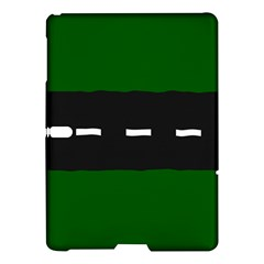 Road Street Green Black White Line Samsung Galaxy Tab S (10 5 ) Hardshell Case  by Mariart