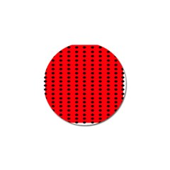 Red White Black Hole Polka Circle Golf Ball Marker (10 Pack) by Mariart