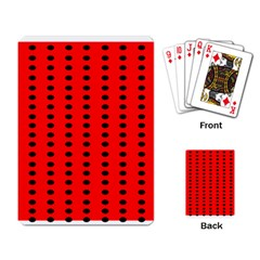 Red White Black Hole Polka Circle Playing Card