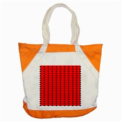 Red White Black Hole Polka Circle Accent Tote Bag by Mariart