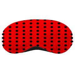 Red White Black Hole Polka Circle Sleeping Masks by Mariart