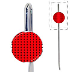 Red White Black Hole Polka Circle Book Mark by Mariart