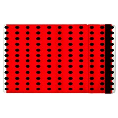 Red White Black Hole Polka Circle Apple Ipad 3/4 Flip Case by Mariart