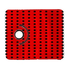 Red White Black Hole Polka Circle Galaxy S3 (flip/folio) by Mariart